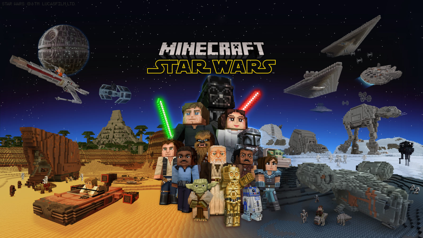 Minecraft et Star Wars ensemble