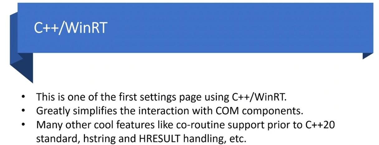Informations techniques sur C ++ WinRT