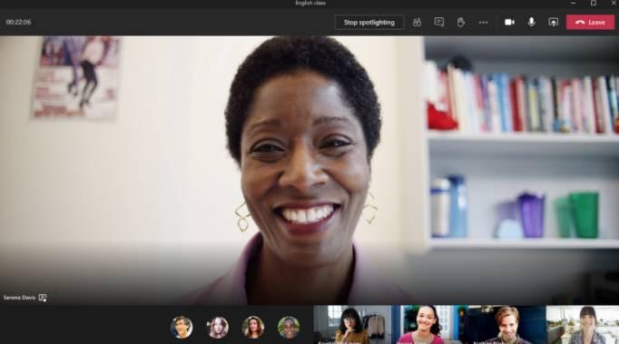 Fonctionnalité Spotlight dans Microsoft Teams