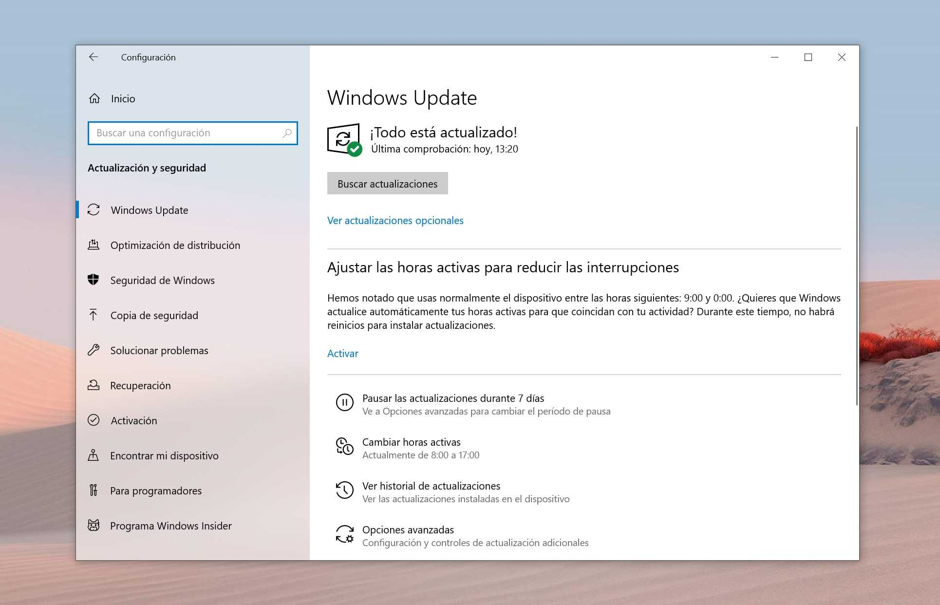 Windows Update dans Windows 10