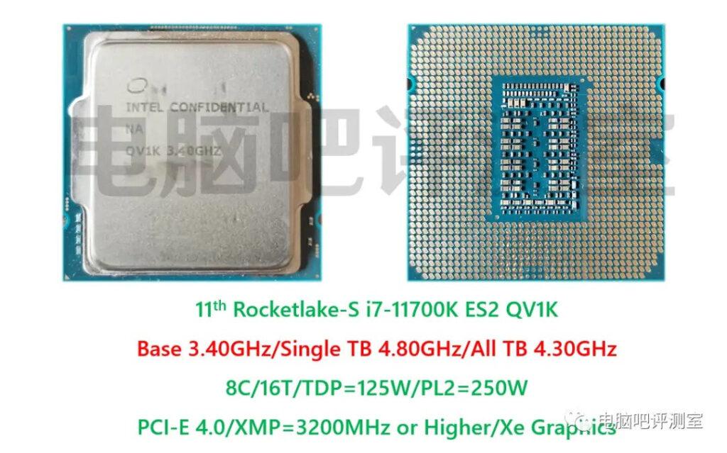 processeur Intel Core i7 11700k