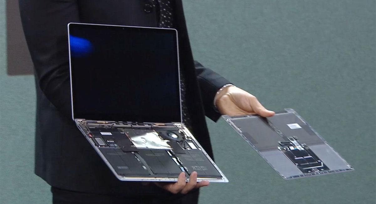 L'intérieur d'un Surface Laptop 3
