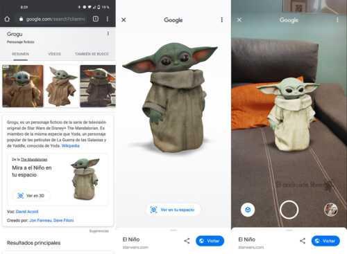Baby Yoda arrive chez vous en 3D avec la réalité augmentée de Google