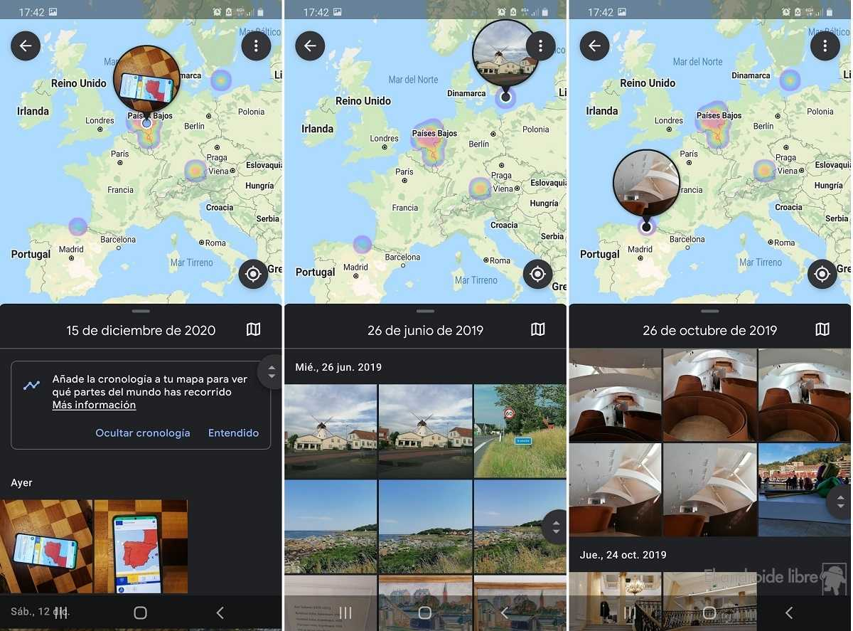 Intégration de Google Photos Maps