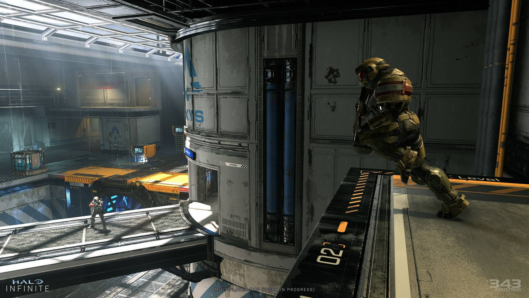 Image d'un niveau multijoueur de Halo Infinite