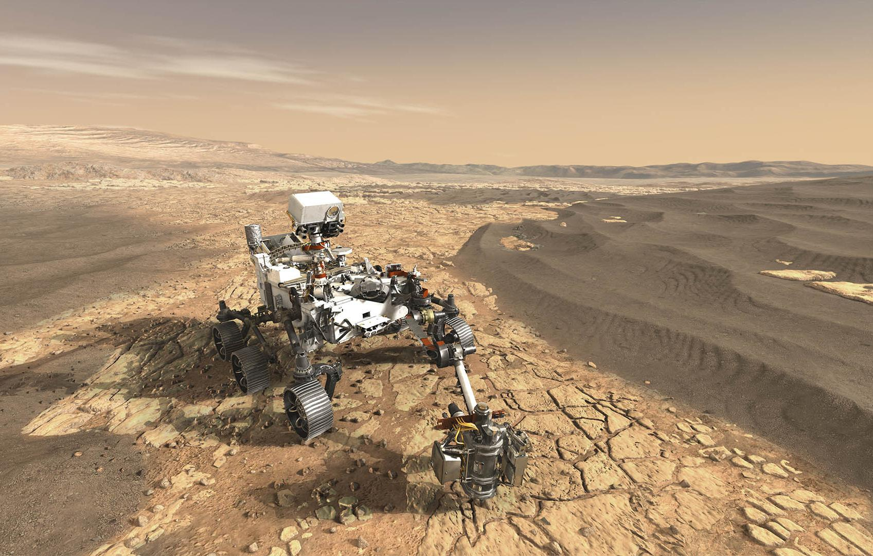 Rover Perseverance recueillera des échantillons de sol de Mars, qui seront récupérés par la mission Mars Sample Return.  Image: NASA