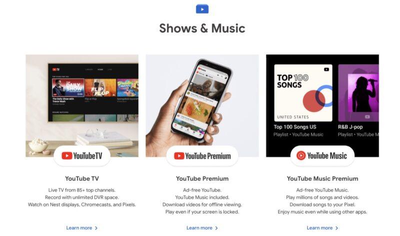 Le Google Store lance une section d'abonnement