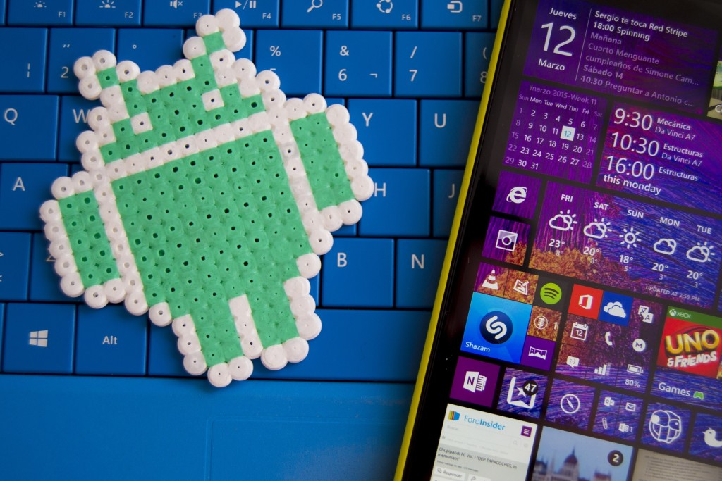 Logo Windows Phone 8.1 et Android