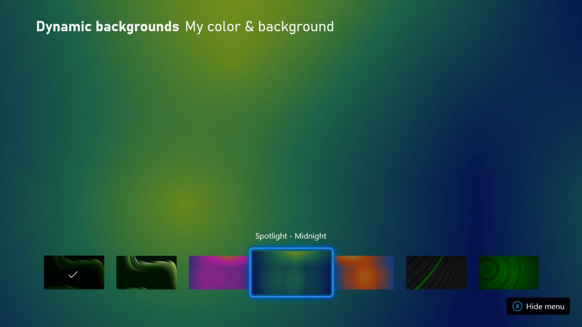 Les nouveaux arrière-plans dynamiques Xbox