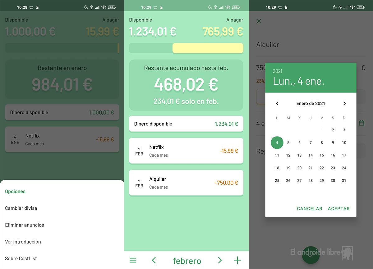 Une application simple pour suivre les dépenses: CostList