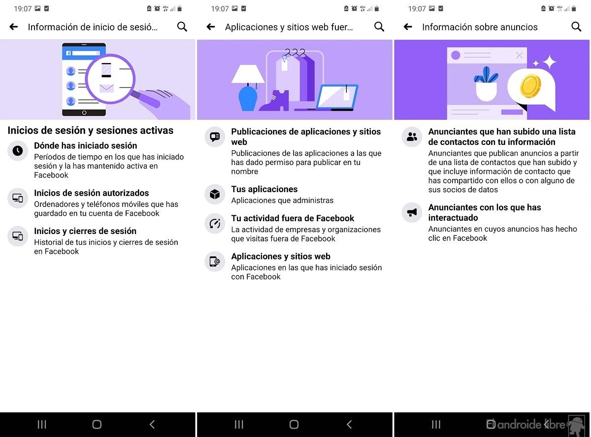 Facebook nouvelle interface de données personnelles 2