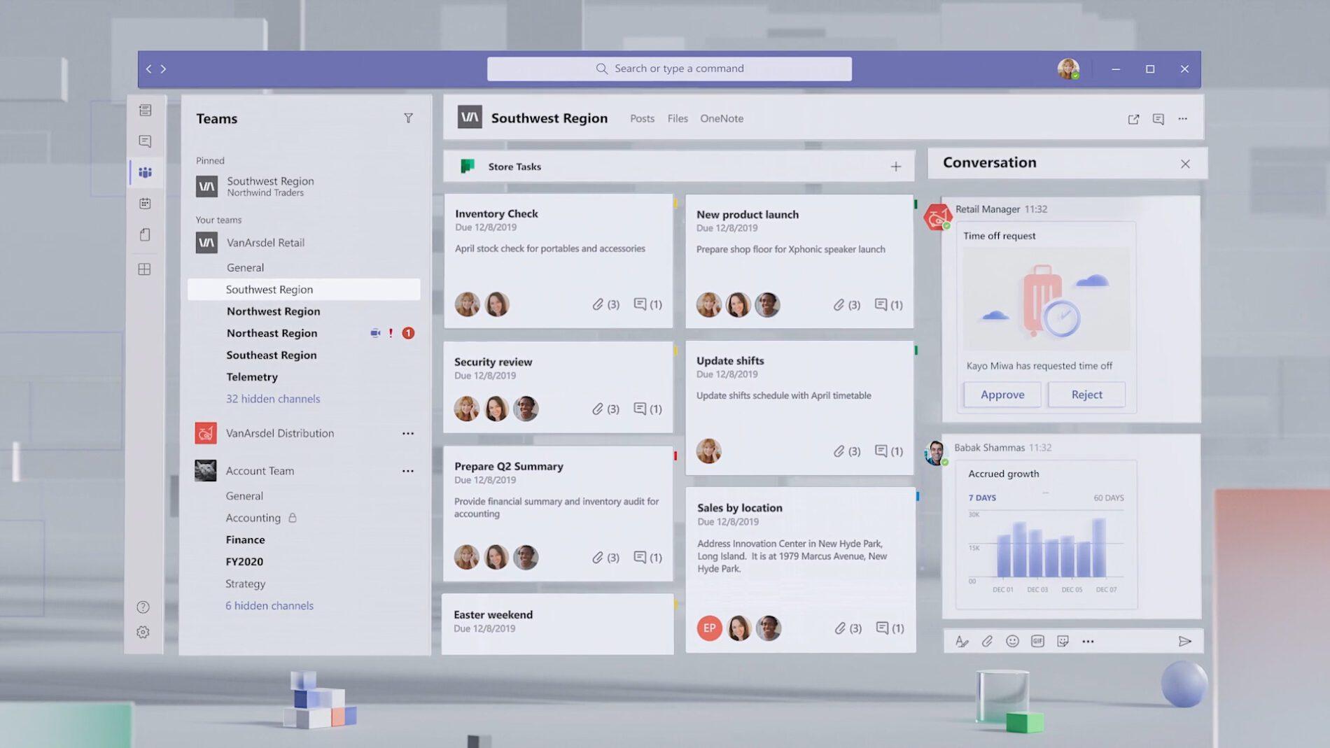 Microsoft Teams comprendra une section des plus recherchés