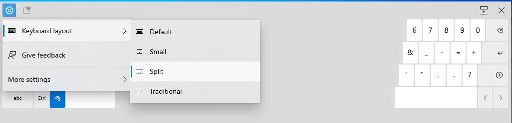 Nouveau menu de configuration pour WIndows 10 Build 21301