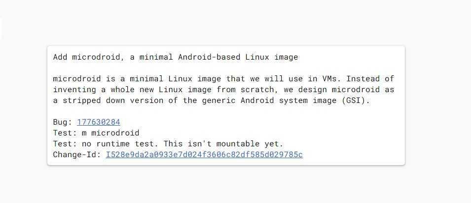 Google lancera une version d'Android pour les machines virtuelles, Microdroid