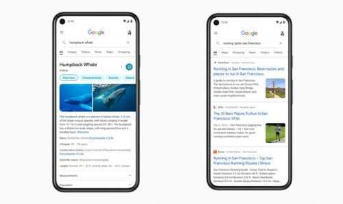 Nouvelle interface de recherche Google