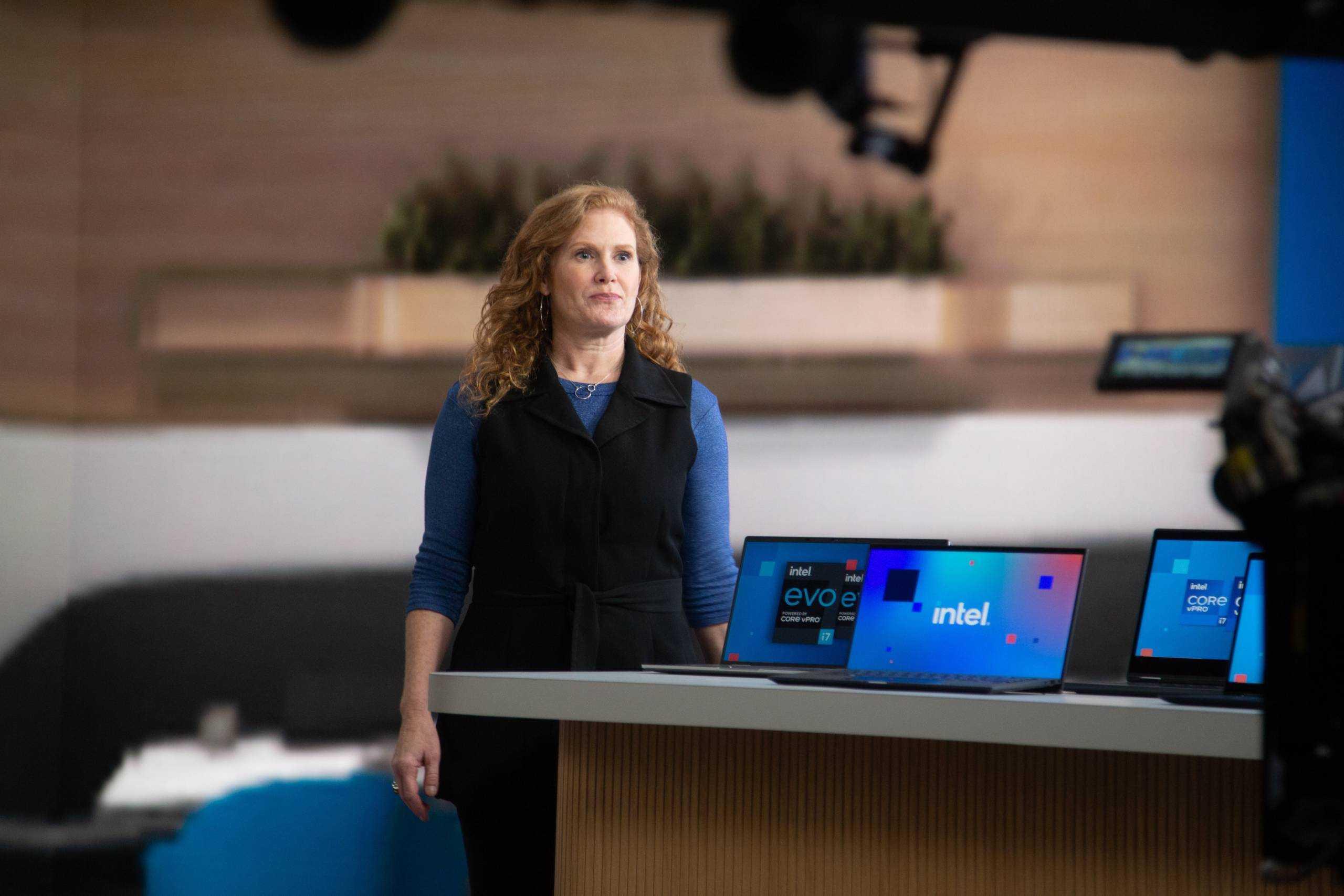 Stephanie Hallford présente la plateforme Intel Core vPro de génération 11