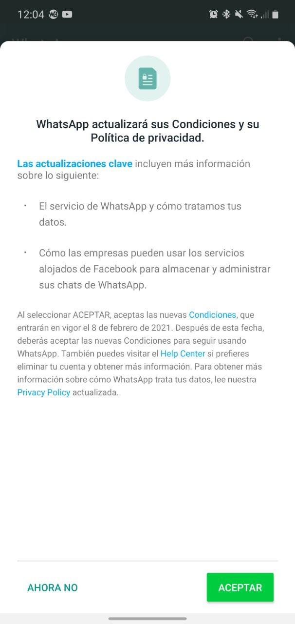 Nouvelles conditions de confidentialité de WhatsApp