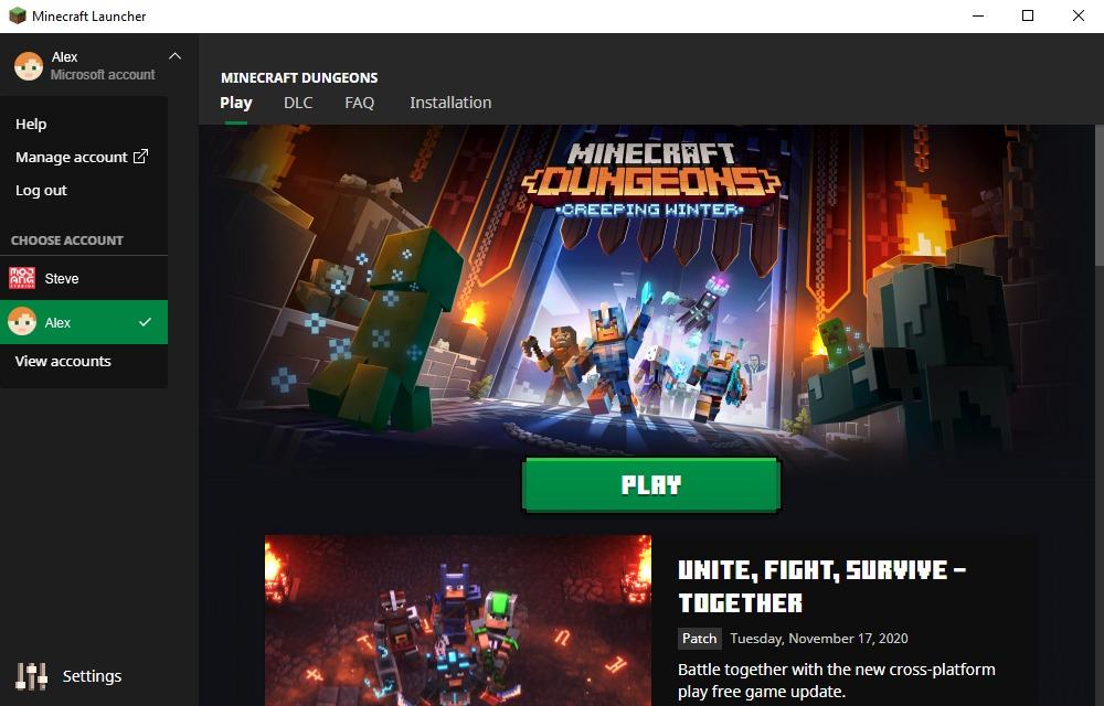 Le nouveau lanceur Minecraft