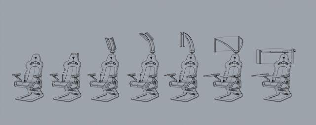 Caractéristiques de l'écran OLED du fauteuil de jeu Razer Project Brooklyn