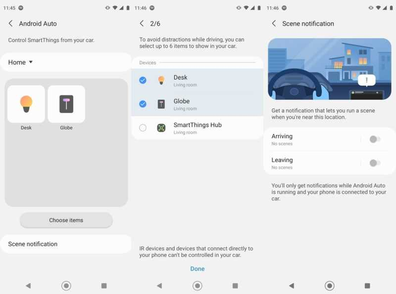SmartThings Samsung Android Auto