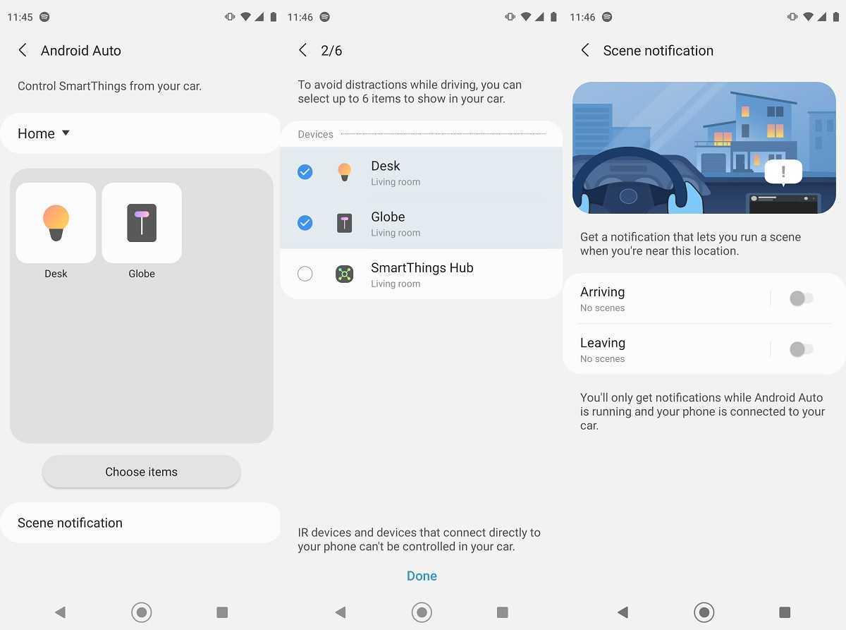 Samsung met à jour SmartThings avec la prise en charge d'Android Auto