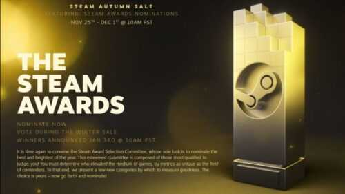 Steam Awards 2020: liste de tous les gagnants