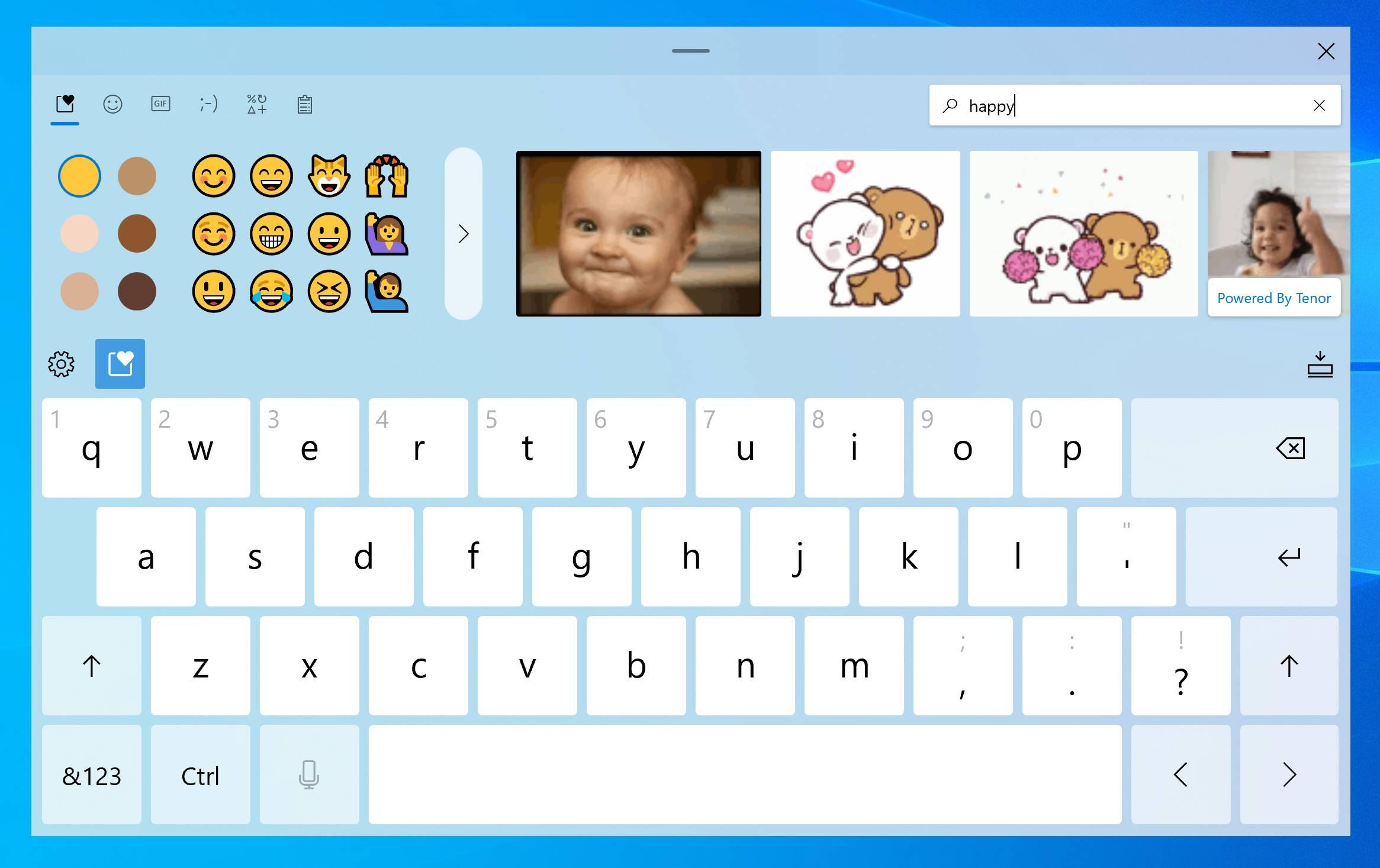 Clavier tactile à venir sur Windows 10 avec Sun Valley