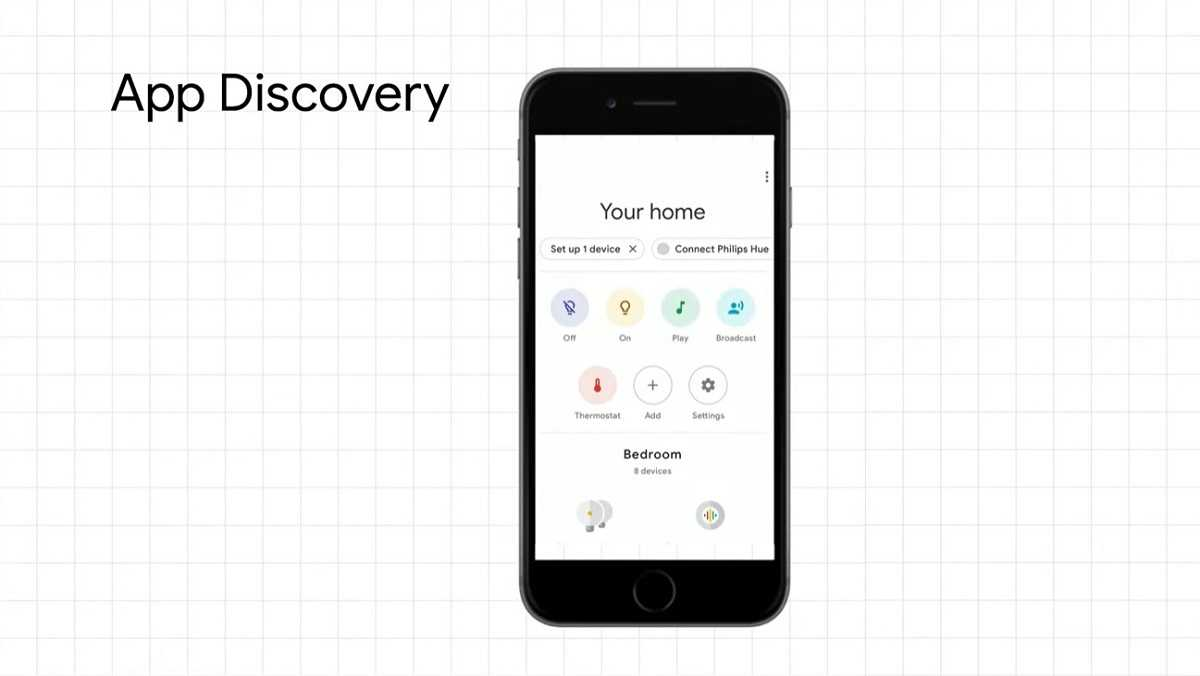 Découverte d'applications Google Home