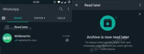 WhatsApp lire plus tard Lire plus tard