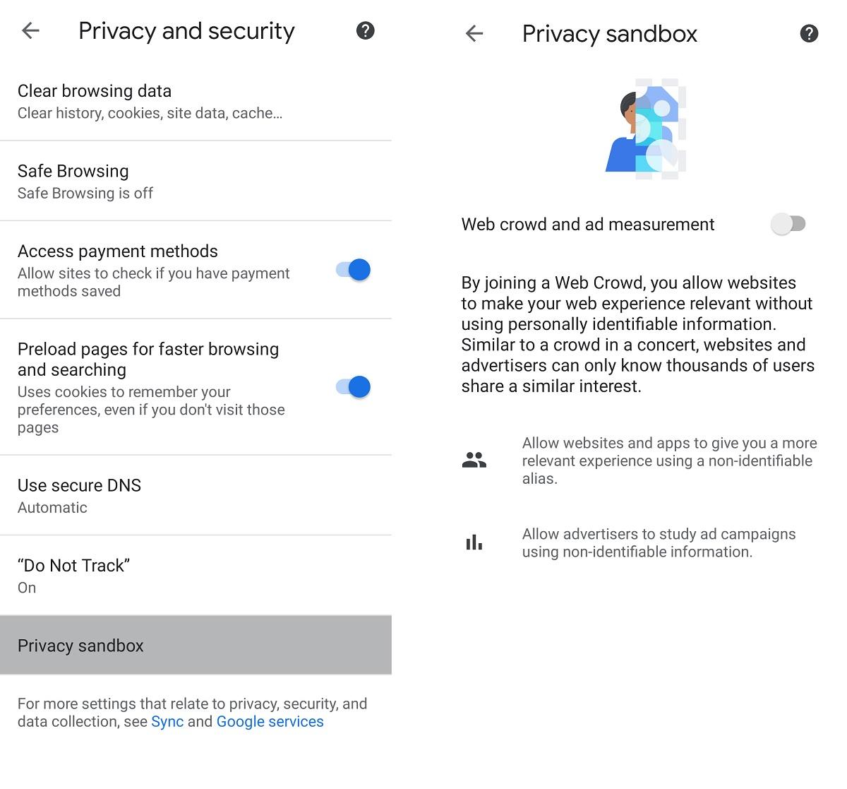Sandbox de confidentialité Google Chrome