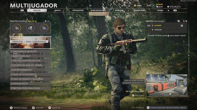 Call of Duty: nouveau menu de la saison 2 de Black Ops Cold War