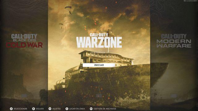 Call of Duty: Warzone nouveau menu saison 2