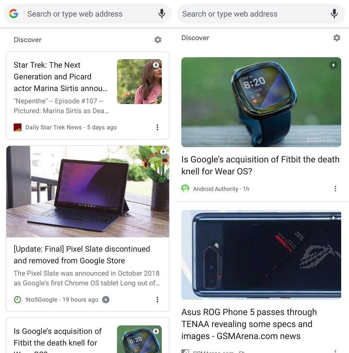 Découvrez la conception du changement Google Chrome