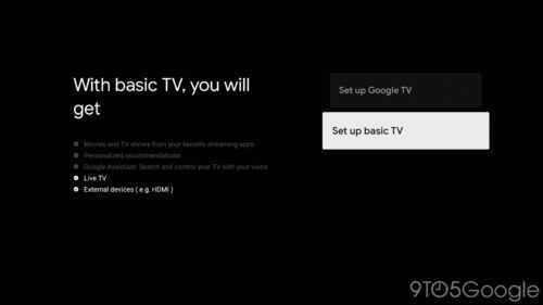 Google TV aura un mode de base pour ceux qui ne veulent pas d'un téléviseur intelligent
