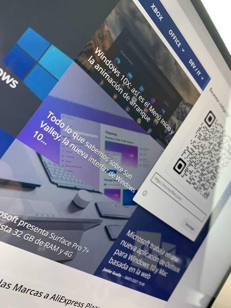 Partager des pages Web Microsoft Edge avec un code QR