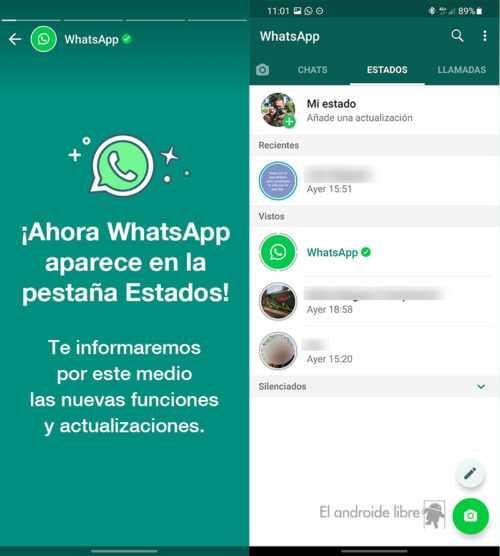 WhatsApp vous informe désormais des nouvelles des États