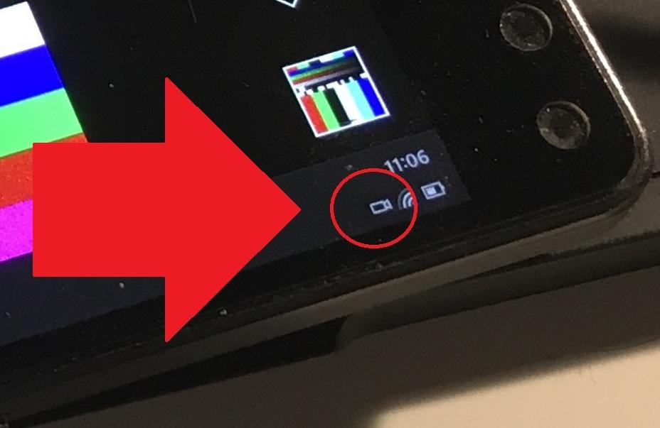 L'icône de la caméra dans Windows 10X