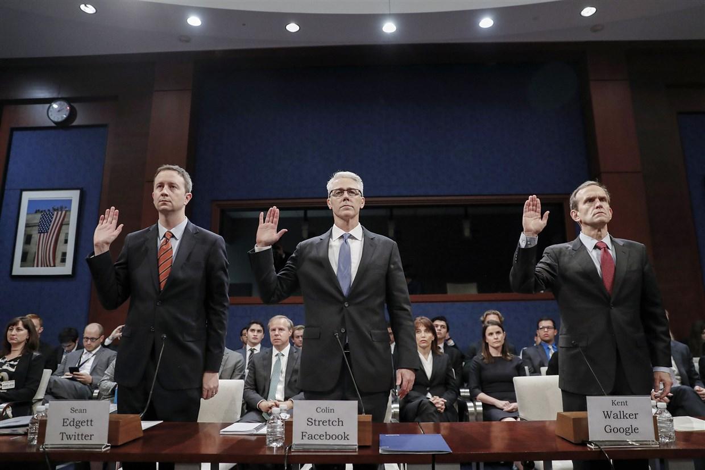 Kent Walker, directeur des affaires mondiales de Google, témoigne à Capitol Hill