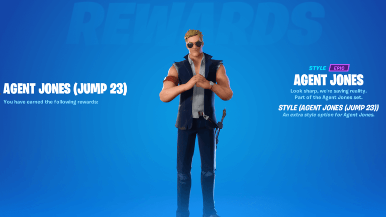 An agent Jonesy variant skin in Fortnite;.