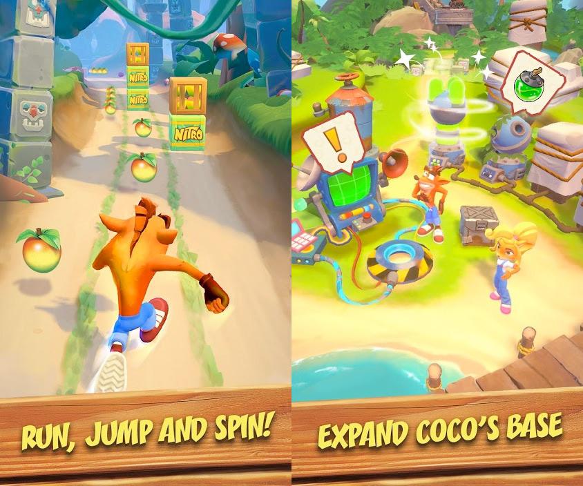 Crash Bandicoot: en fuite! peut maintenant être téléchargé sur n'importe quel Android