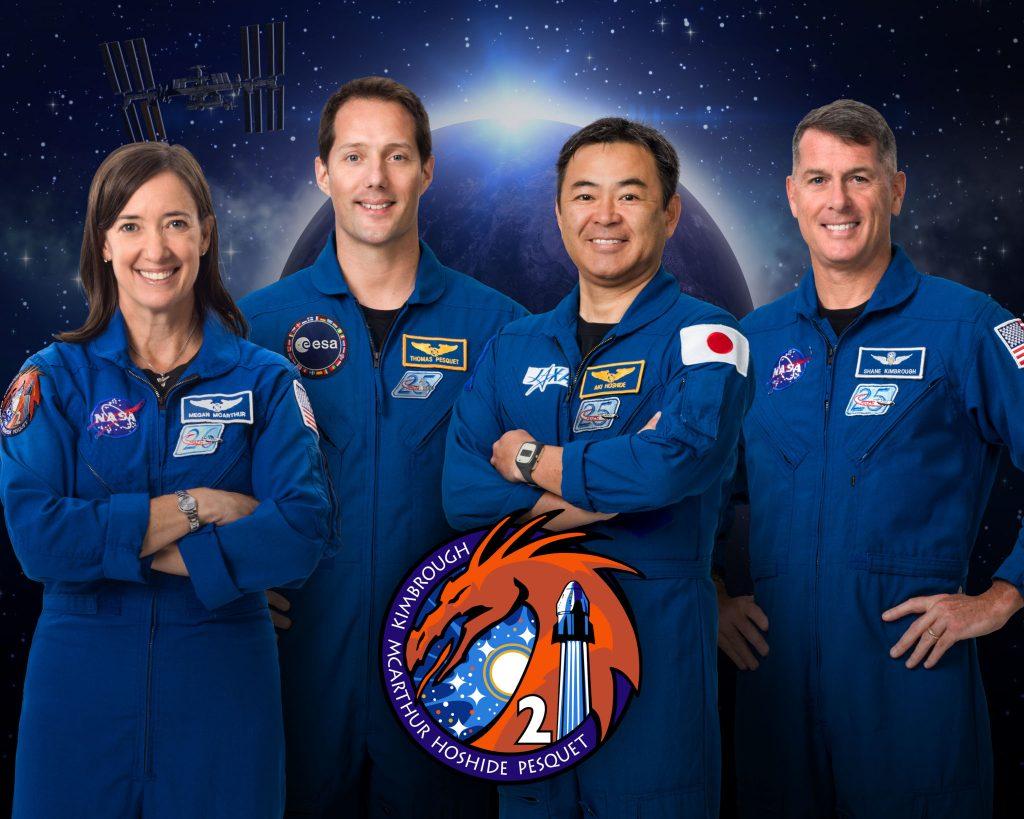 Les quatre astronautes de la mission NASA / SpaceX Crew-2