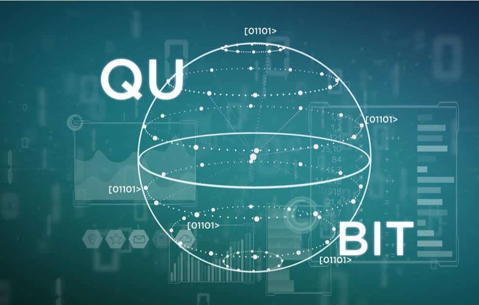Illustration d'un bit quantique, ou Qubit