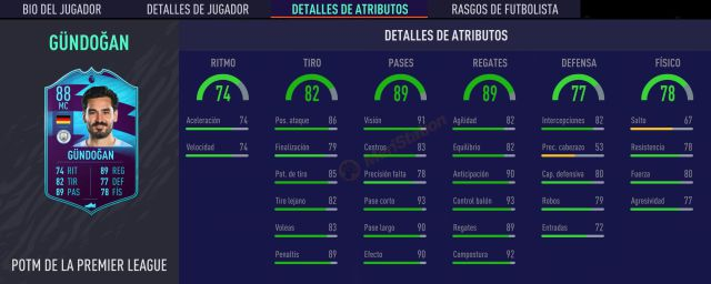 FIFA 21 Gundogan POTM Statistiques Février Solution Défis