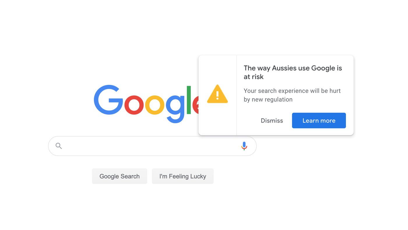 Avis Google en Australie