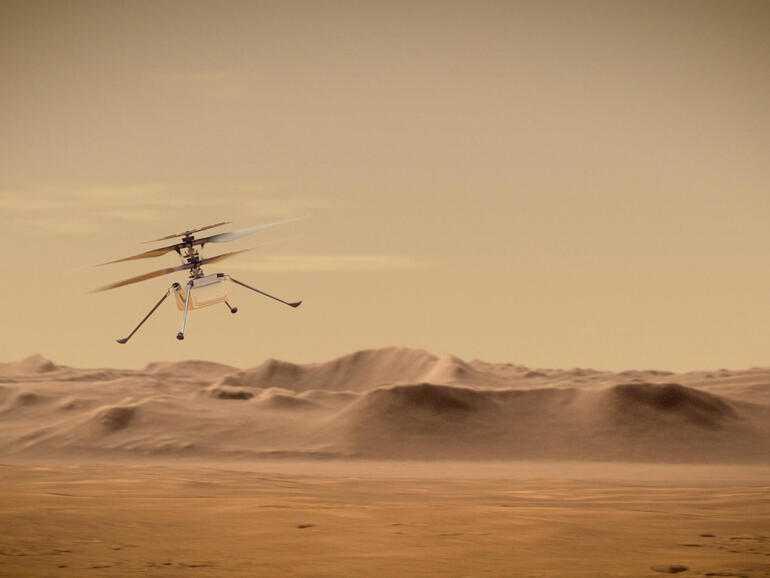 Photos: l'hélicoptère de Mars s'apprête à effectuer son vol inaugural sur la planète rouge