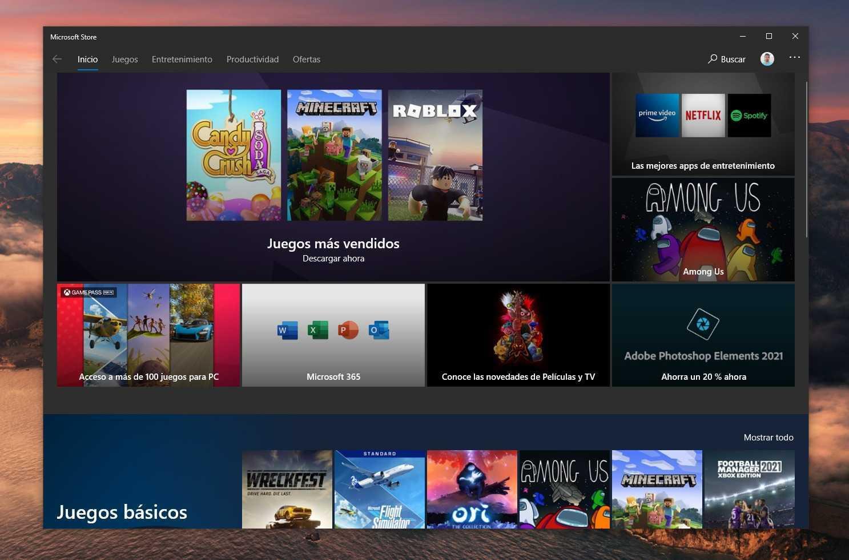 Premières images du nouveau Microsoft Store de Windows 10 Sun Valley