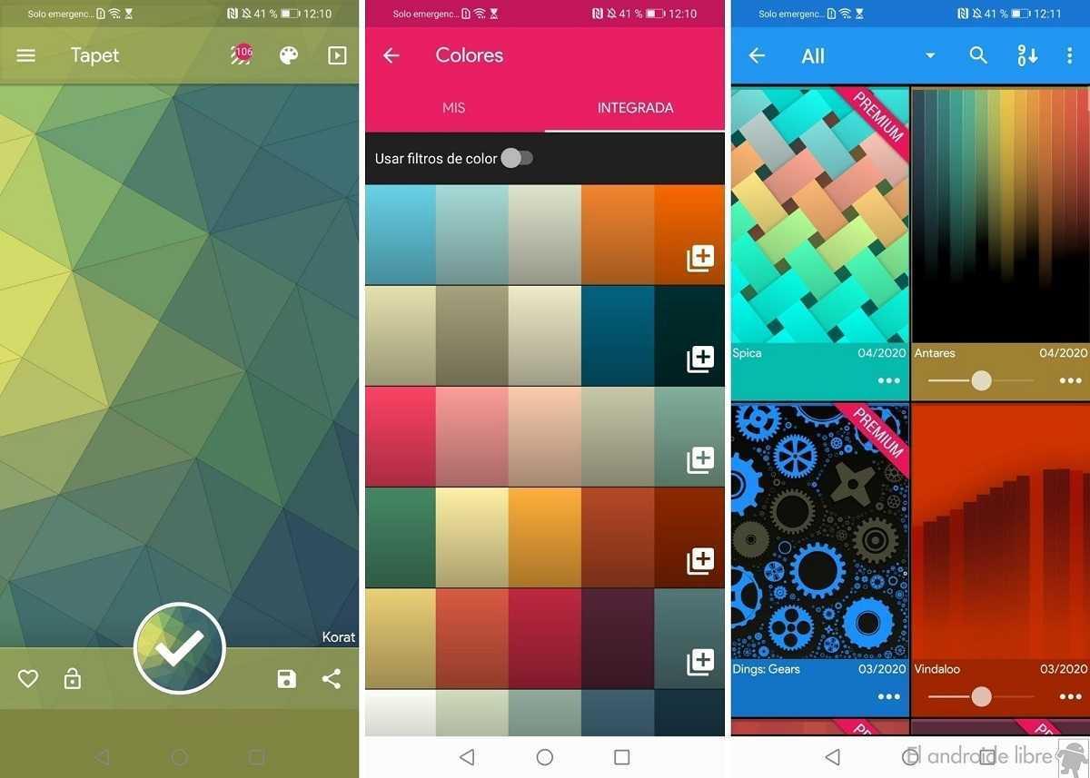 Une application qui génère des fonds d'écran sur votre mobile: Tapet