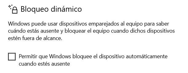 Verrouillage dynamique dans Windows 10