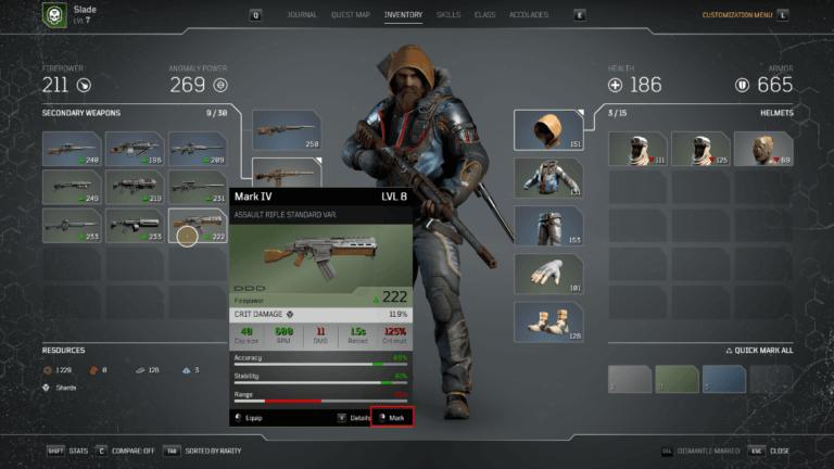 Comment démonter les armes et armures dans les Outriders