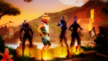 Screenshot of Fortnite trailer